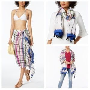 INC Sarong Cover Up Tassel Wrap Scarf NEW